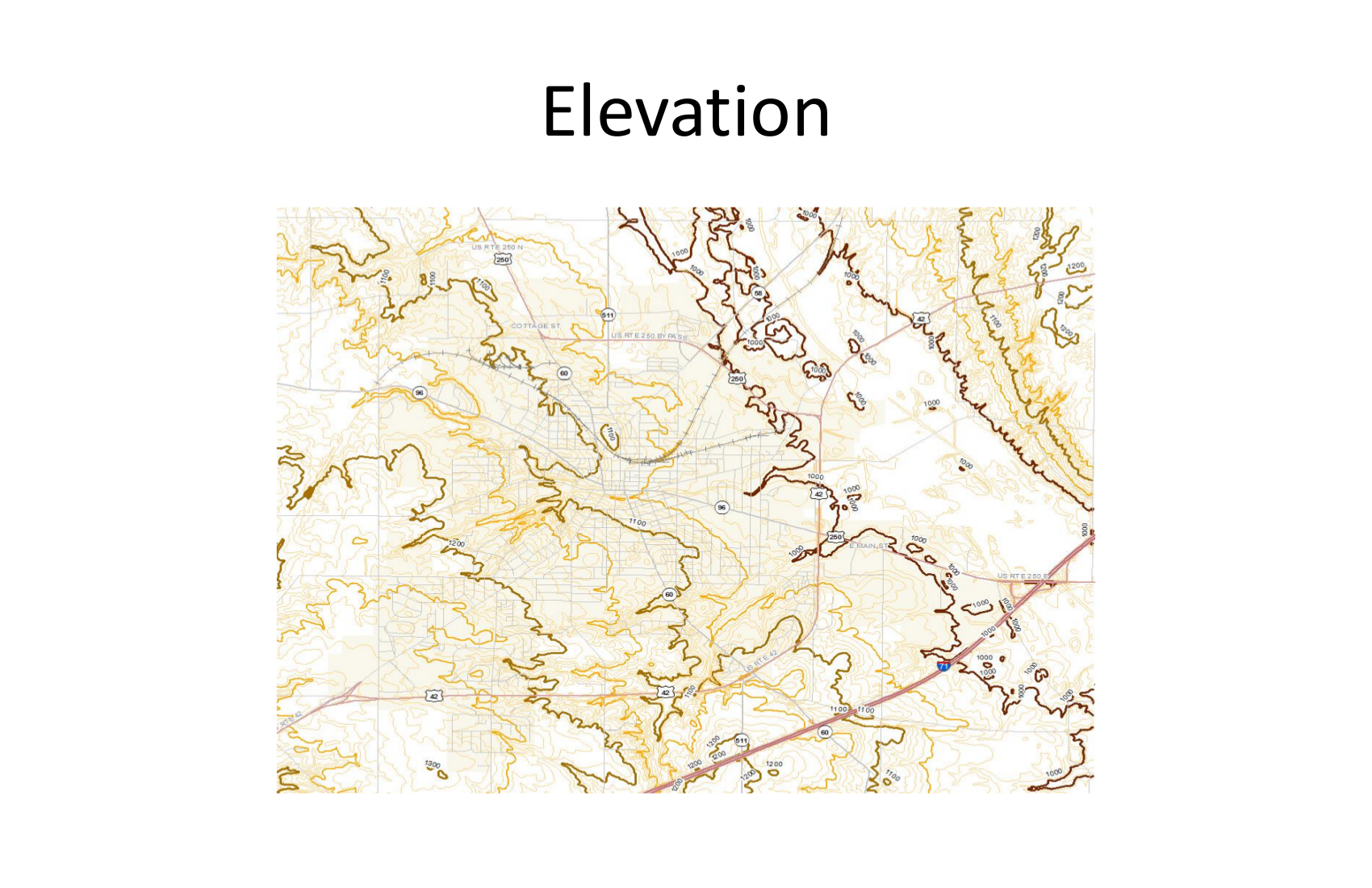 elevation map example