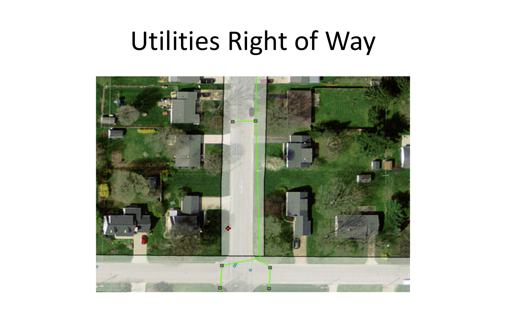 right of way map example