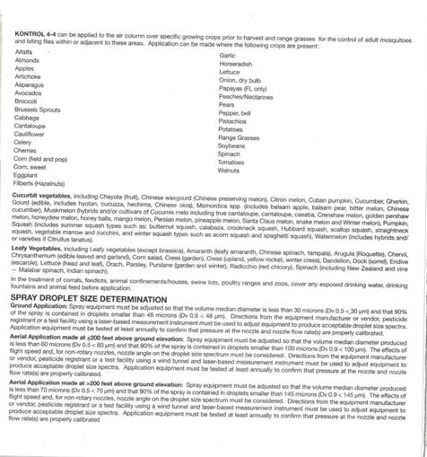 Insecticide label - page 2